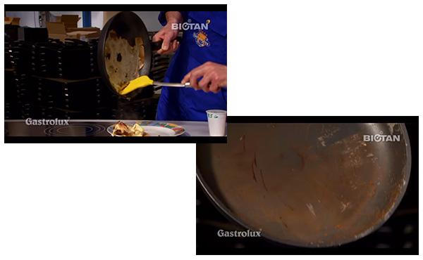 他社製品のパンケーキ焼きテストの結果